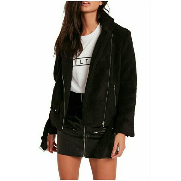 d00f6f108390c Missguided Jackets & Coats | Fleece Moto Jacket | Poshmark